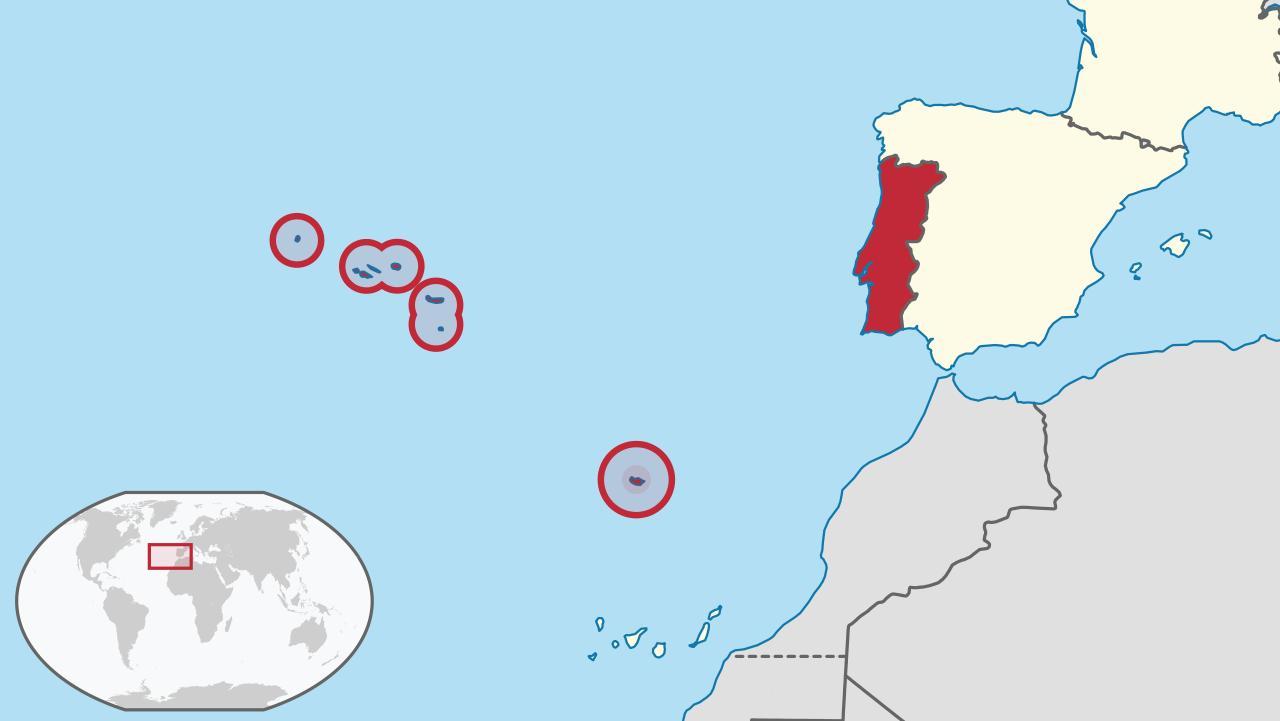 kart over portugal Portugal kart   øyene  Kart over Portugal øyene (Sør Europa   Europa) kart over portugal