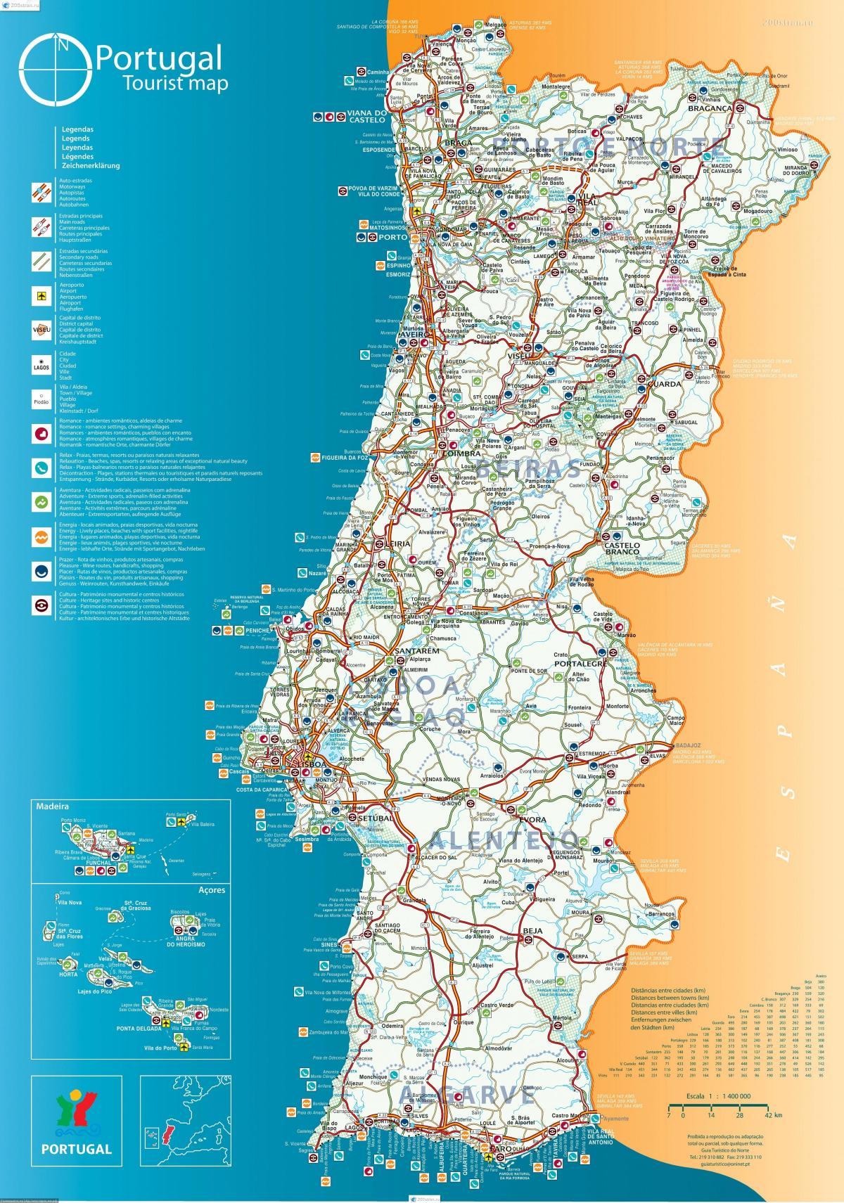 kart over portugal Portugal resorts kart   Kart over Portugal resorts (Sør Europa  kart over portugal