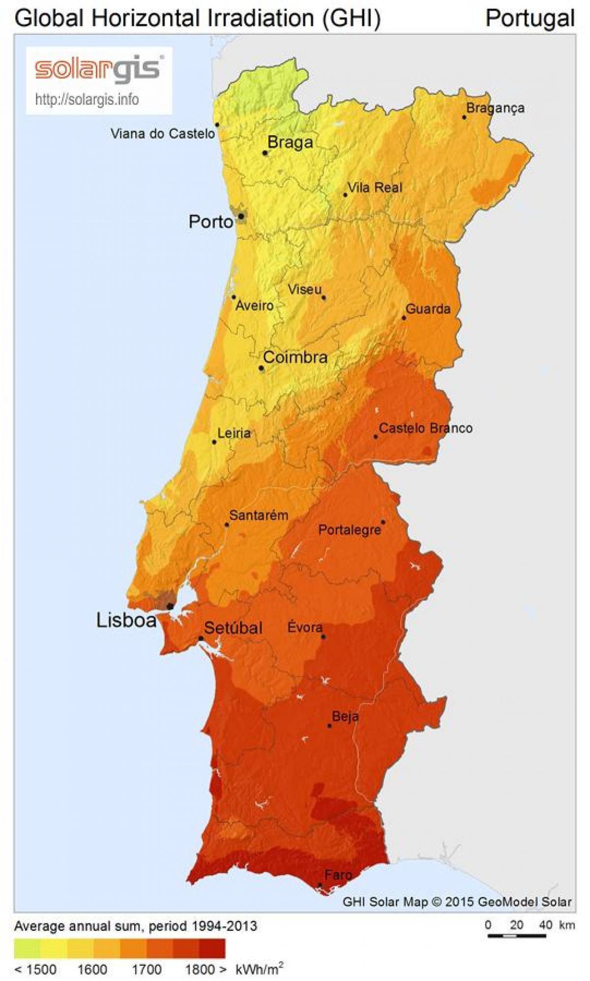 været i europa kart Portugal været kart   Været kart Portugal (Sør Europa   Europa) været i europa kart
